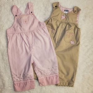 Two Carter's Infant Overalls
